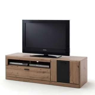 Fernseher Schrank in Eiche Optik und Dunkelgrau einer Schublade
