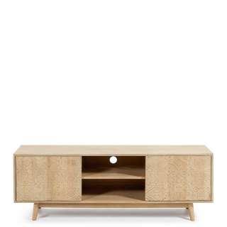 Fernsehmöbel aus Massivholz Schnitzereien versehen