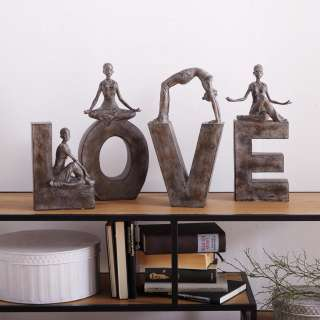 Ambia Home Dekobuchstaben 'LOVE', Grau