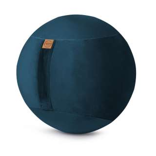 XXXL SITZBALL Samt Uni Grau, Blau