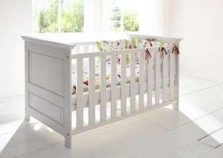 Babybett Kiefer 147x83x80 weiß lackiert NELLY