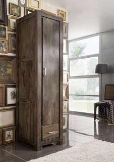 Garderobe Sheesham 50x61x200 grau lackiert METROPOLIS #118