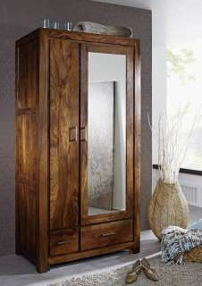Garderobe Sheesham 100x61x200 lifehoney lackiert METROLIFE #165