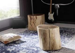 Baumstammhocker Akazie 40x40x40 natur lackiert NATURALIDOL #103