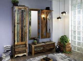 Garderobe komplett NATURE OF SPIRIT #9002 Vintage mehrfarbig Indisches Altholz lackiert