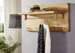 Garderobe Wildeiche 100x50x32 natur geölt LINZ #14