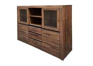 Highboard Wildeiche 160x45x140 Tabacco brown geölt MONTREUX #242