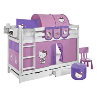 home24 Etagenbett JELLE Hello Kitty Lila