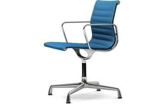 Vitra - Aluminium Chair - EA 104 - 84 blau moorbraun - indoor