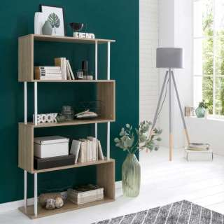 set one by Musterring Highboard »colorado«, Front Hochglanz, mit Winkelfuß, offenes Fach links