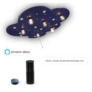 XXXL KINDERDECKENLEUCHTE Amazon Alexa, Blau