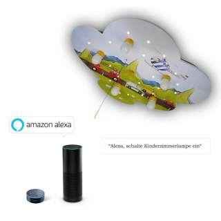 XXXL KINDERDECKENLEUCHTE Amazon Alexa, Mehrfarbig