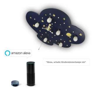 XXXL KINDERDECKENLEUCHTE Amazon Alexa, Blau, Geld