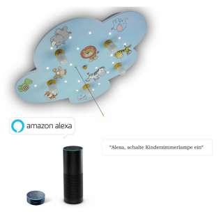 XXXL KINDERDECKENLEUCHTE Amazon Alexa, Mehrfarbig, Blau