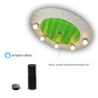 XXXL KINDERDECKENLEUCHTE Amazon Alexa, Grün