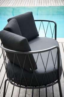 Jan Kurtz - 2 Sitzer SUNDERLAND, Stahl pulverbeschichtet schwarz, ca. 73 x 162 x 68 cm, Sitzhöhe ca.44 cm - outdoor
