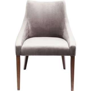 Stuhl Mode Samt grau