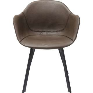 Armlehnstuhl Lounge Grau