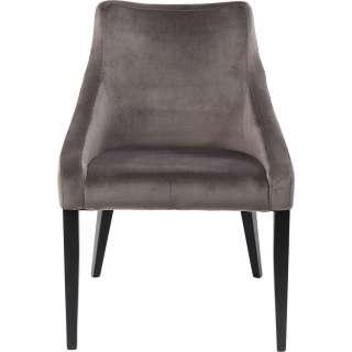 Stuhl Mode Samt Grau Schwarz