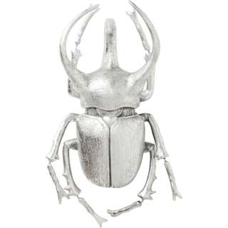 Wandschmuck Atlas Beetle Silber