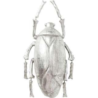 Wandschmuck Plant Beetle Silber