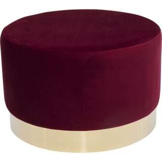 Hocker Cherry Bordeaux Brass Ø55cm