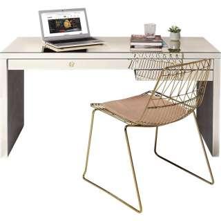 Schreibtisch Luxury Champagne 140x60cm