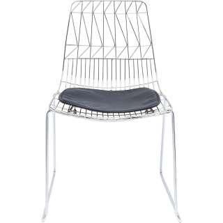Stuhl Solo Schwarz Chrom