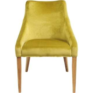 Stuhl Mode Samt grün