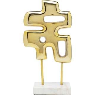 Deko Objekt Abstracto Puzzle Gold