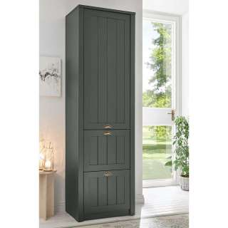 Garderobenschrank in Dunkelgrün 60 cm breit