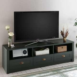 TV Möbel in Dunkelgrün Landhaus Design