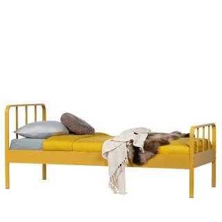 Einzelbettgestell in Gelb Stahl