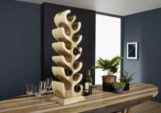 Weinständer Suar Holz 30x20x100 natur UNIKA #173