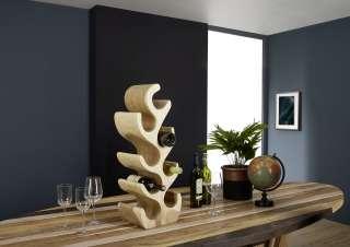 Weinständer Suar Holz 27x20x75 natur UNIKA #172