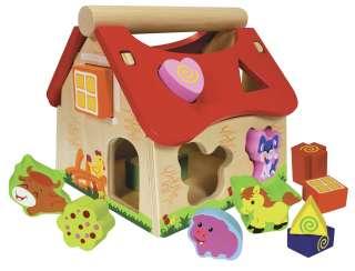 Eichhorn Steckhaus ¦ mehrfarbig ¦ Kiefer massiv, lackiert Baby > Spielen > Lernspielzeug - Höffner