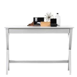 Schreibtisch in Weiß 110 cm breit
