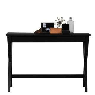 Designschreibtisch in Schwarz 110 cm breit