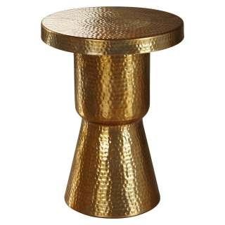 Carryhome BEISTELLTISCH rund Gold