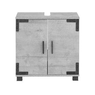 Waschkommode in Grau Industriedesign