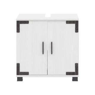 Waschschrank in Weiß Industriedesign