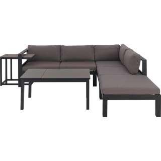 Amatio LOUNGEGARNITUR Grau, Braun Polywood® Aluminium