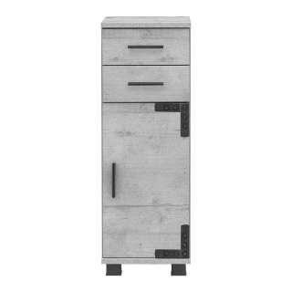 Badeunterschrank in Grau Industriedesign