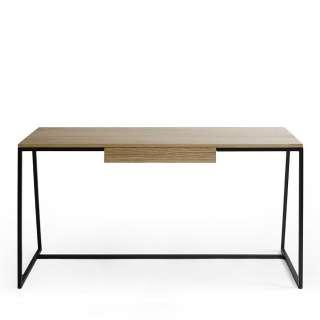 Schreibtisch mit Eiche furniert einer Schublade