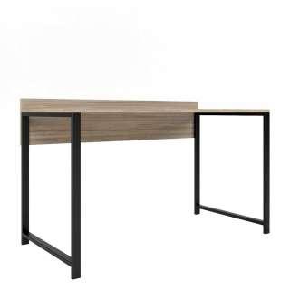 Schreibtisch mit Eiche Grey Wash furniert 135 cm breit