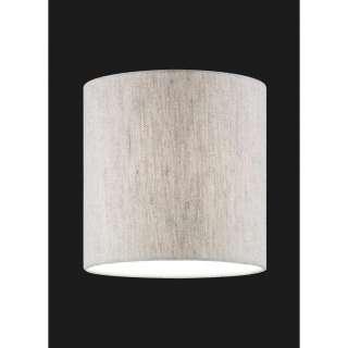 XXXL LEUCHTENSCHIRM Weiß, Beige Textil E27