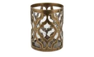 Windlicht ¦ gold ¦ Glas , Metall ¦ Maße (cm): H: 15 Ø: [13.0] Dekoration > Laternen & Windlichter - Höffner