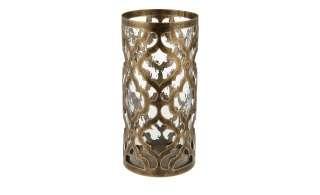 Windlicht ¦ gold ¦ Glas , Metall ¦ Maße (cm): H: 26 Ø: [13.0] Dekoration > Laternen & Windlichter - Höffner