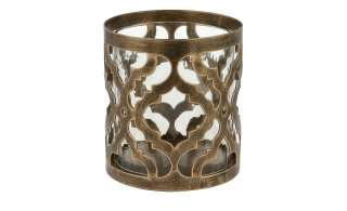 Windlicht ¦ gold ¦ Glas , Metall ¦ Maße (cm): H: 10,3 Ø: [9.5] Dekoration > Laternen & Windlichter - Höffner