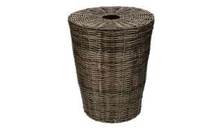Wäschekorb mit Deckel ¦ braun ¦ Kunststoff ¦ Maße (cm): H: 50 Ø: [40.0] Aufbewahrung > Wäscheaufbewahrung - Höffner